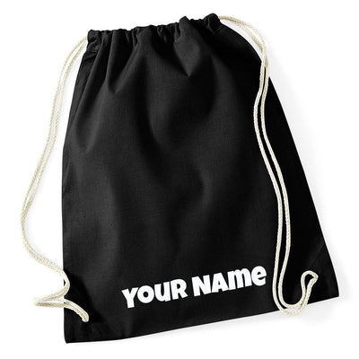 Cotton Drawstring Gym Bag