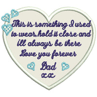 Memory Heart Memorial Embroidered Patch