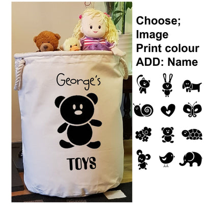 Children's Toy Bag Plain Text-Toy Bag-Its Personalised LTD
