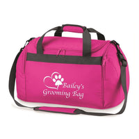 Its Personalised LTD Holdall Fuchsia / White Pet Grooming Holdall Bag