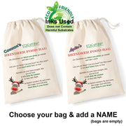 Reindeer Christmas Eve Rudolph Sacks-Bag-Its Personalised LTD
