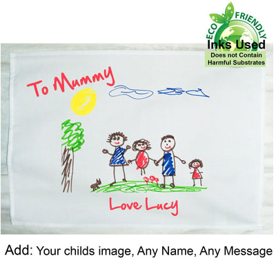 Personalised Tea Towel Child's Drawing