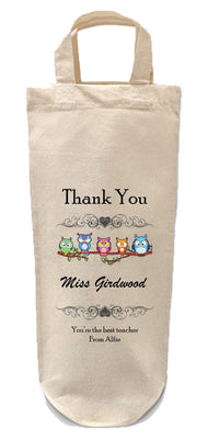 Thank You Teacher Bottle bag-Bottle Bag-Its Personalised LTD