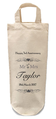 Wedding Anniversary Bottle Bag-Bottle Bag-Its Personalised LTD