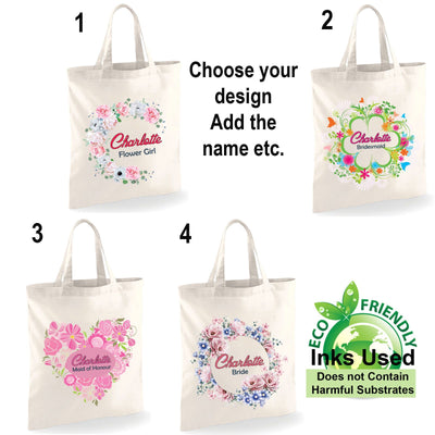 Wedding Party Bridal Tote Bags
