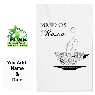 Wedding Day Anniversary Tea Towel