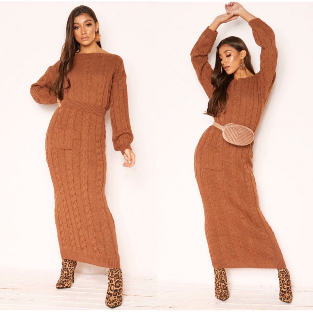Noara Rust Knit Set