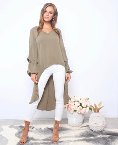 Jennifer Blouse Khaki