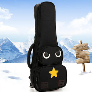 Cool unique 21 23 26 inch soprano  ukulele case small bass guitar bags soft gig cover tenor backpack lanikai concert padded