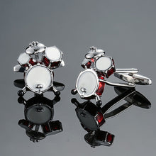 Load image into Gallery viewer, DY  new high quality brass musical instruments Sax trumpet drum piano violin music symbol French shirt Cufflinks free shipping