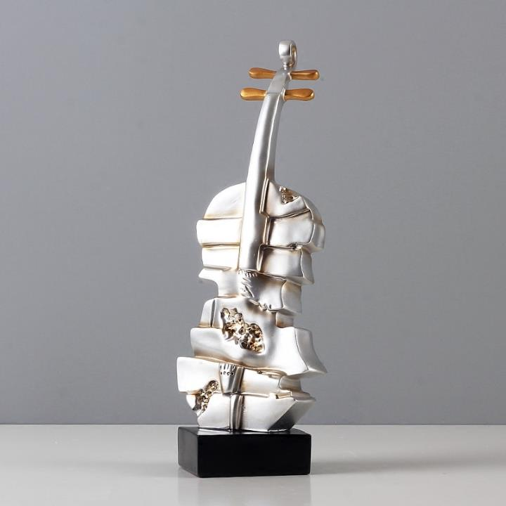 Modern resin musical instrument violin ornament figurine Home Decor Gifts Crafts,Bar artwork display,figurine pop