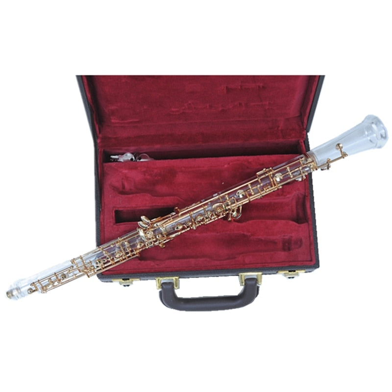 Crystal Oboe For Performance Semi Auto Professional Oboe for Show with case Musical instruments