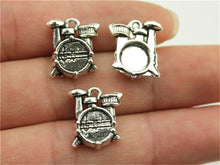Load image into Gallery viewer, 10pcs/lot Musical Instrument Charms Antique Silver Color Guitar Microphone Violin French Horn Charms For Jewelry Making