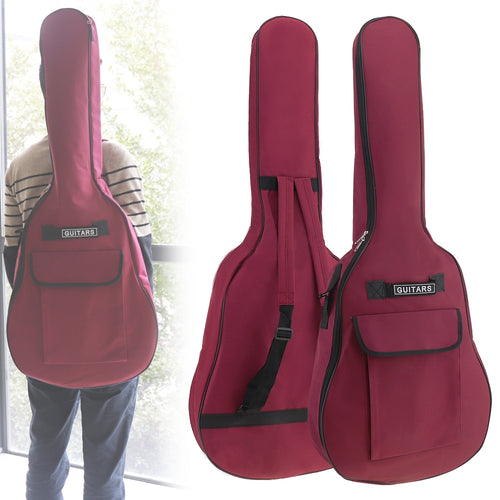 40/41 Inch Oxford Fabric Guitar Case Gig Bag Double Straps Padded 5mm Cotton Soft Waterproof Backpack Carry Case Cover