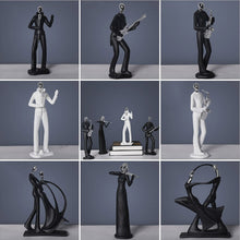 Load image into Gallery viewer, ERMAKOVA Modern Abstract Resin Music Band Figurine Musician Sculpture Musical Instrument Statue Home Office Living Room Decor