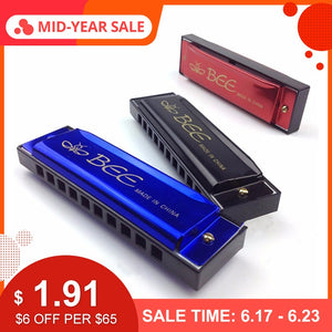 10 Holes 20 C Tone Harmonica Mouth Key Organ For Musical Instrument Toy Kids Gift Lover