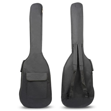 SEWS-Black Waterproof Double Straps Bass Backpack Gig Bag Case for Electric Bass Guitar 5mm Thickness Sponge Padded