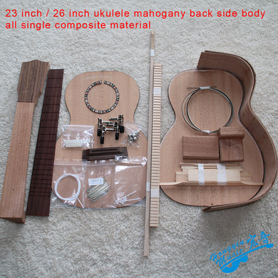 23inch/26inch DIY Ukelele Kit Ukulele African Mahogany Back Side Body All Single Combination Set Musical Instrument Accessories