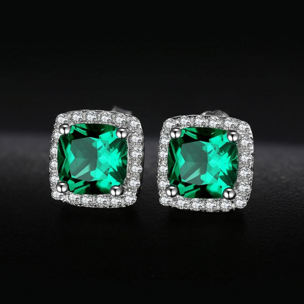 Earrings for Women or Girls with Top Grade Emerald Gems