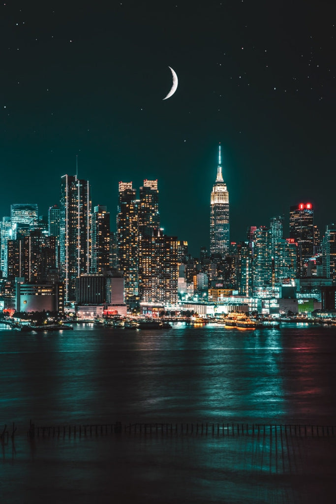 Emerald Green City Skyline