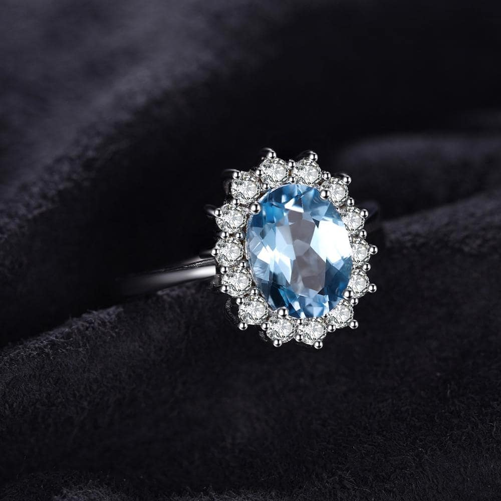 Rings and Engagement Rings with Blue Gem or Blue Diamond