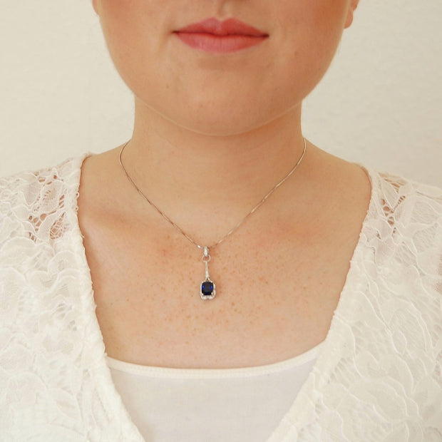 1.6ct Sapphire Design Necklace - Pure Gems