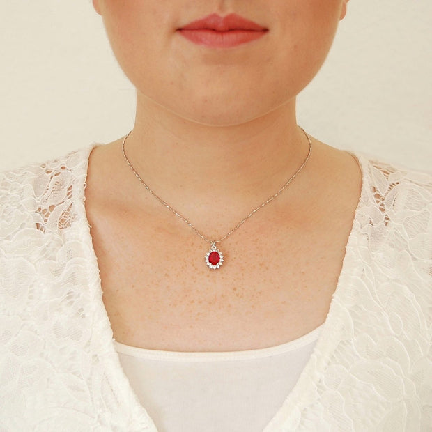 2.6ct Ruby Royal Princess Necklace - Pure Gems