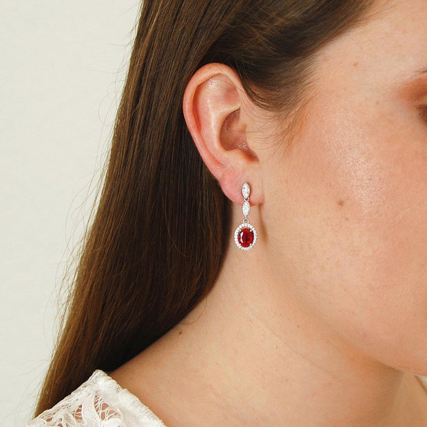 Affordable Ruby Earrings