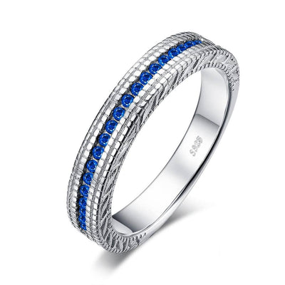 Blue Sapphire Ring: Sterling Silver Sapphire Ring from the Women's Sapphire Rings Collection