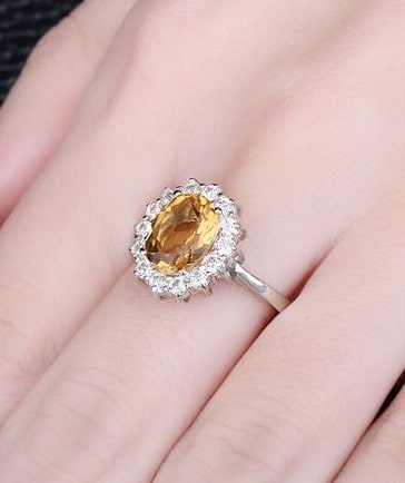 November Birthstone Ring from the Citrine Birthstone Rings Collection