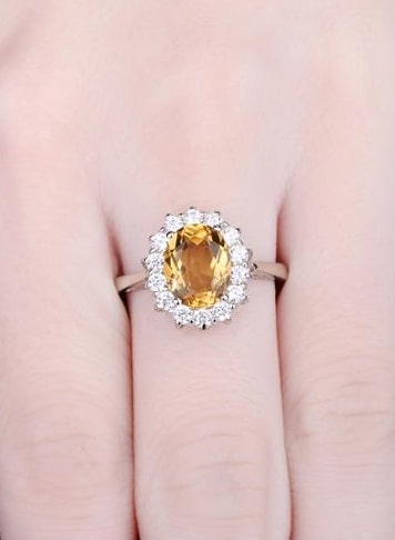 Citrine Ring: Sterling Silver Citrine Ring