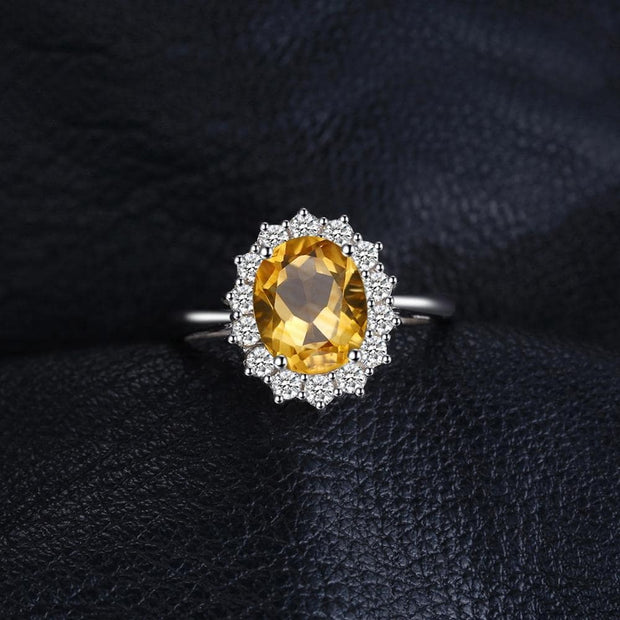 Citrine Ring: This Citrine Stone Ring is a Sterling Silver Citrine Ring