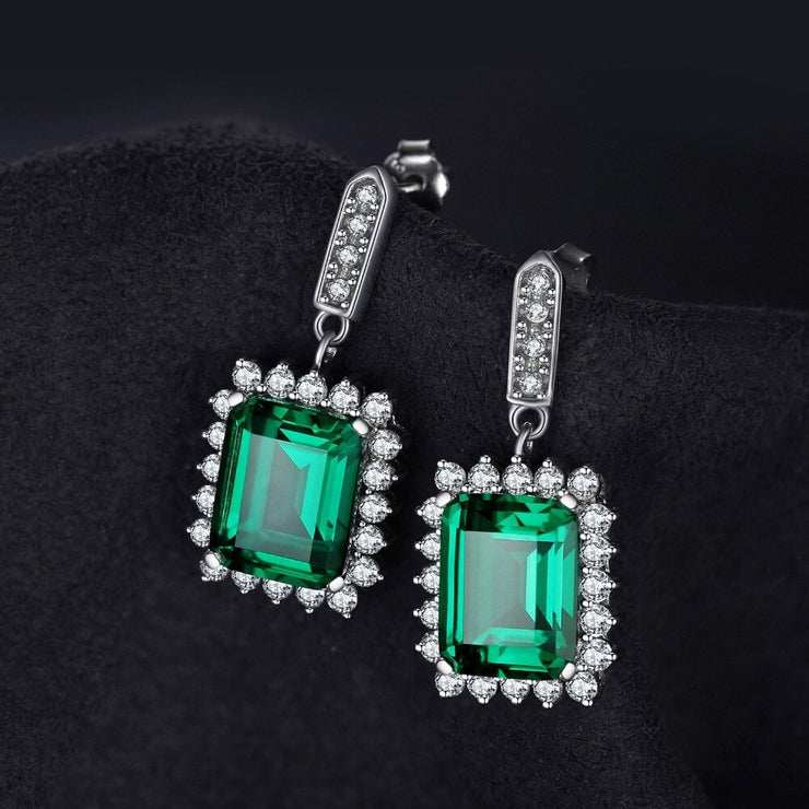 Cocktail Emerald Earrings