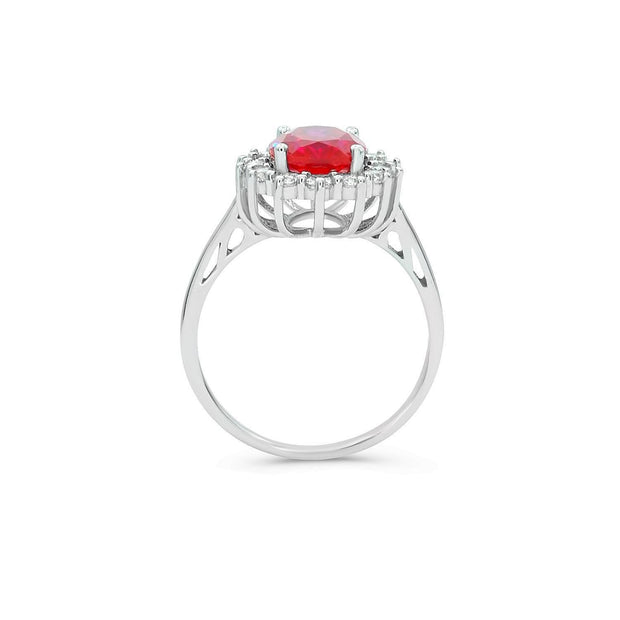 2.6ct Red Ruby Princess Ring-Pure Gems