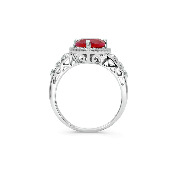 2.5ct Ruby Heart Ring-Pure Gems