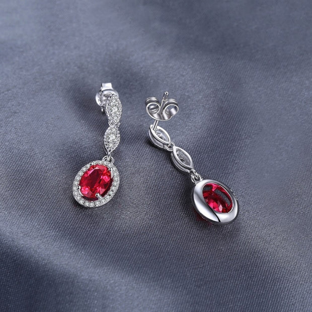 Elegant Ruby Earrings