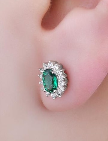 Emerald Earrings for Girls