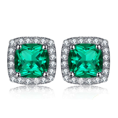 Emerald and Diamond Earrings