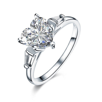 Heart Simulated Diamond Ring