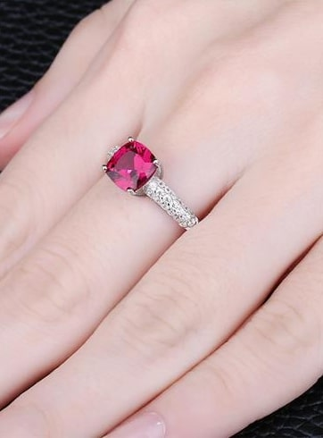 Lab Created Ruby Rings
