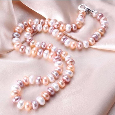 Multicolor Pearl Choker Necklace