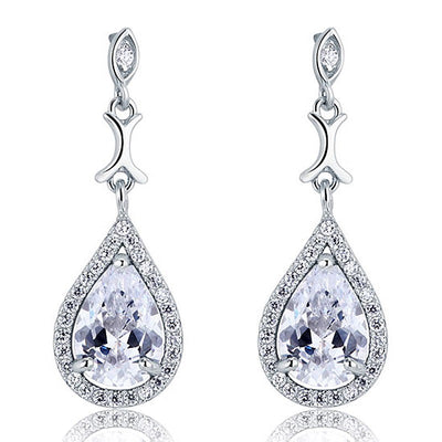 Pear Shaped Simulated Diamond Earrings