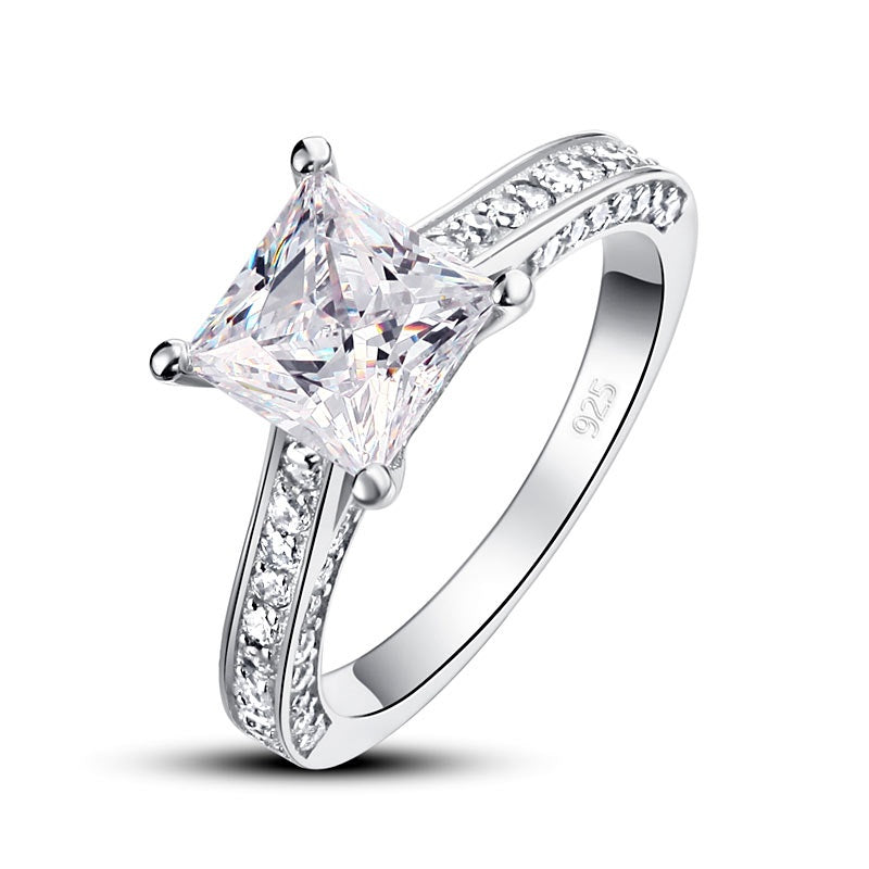 Princess Cut simulierter Diamantring