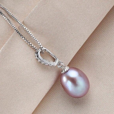 Purple Pearl Necklace