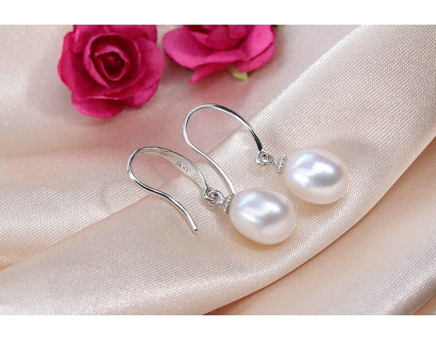 Ladies Pearl Earrings Pink