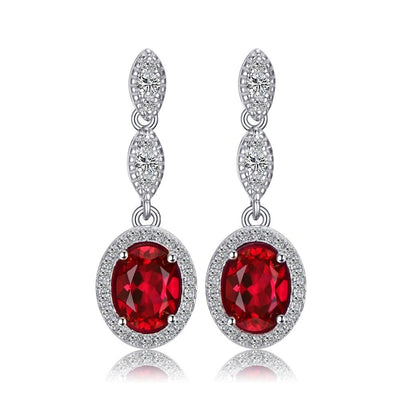 Real Ruby Earrings