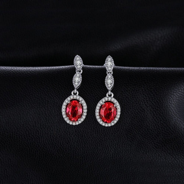 Ruby Earrings Hanging