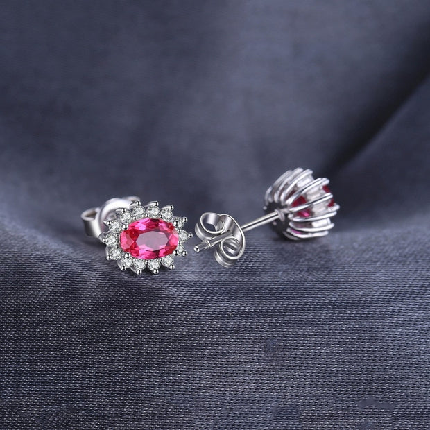 Ruby Earrings for Girls