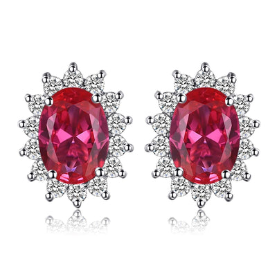 Ruby Stone Earrings