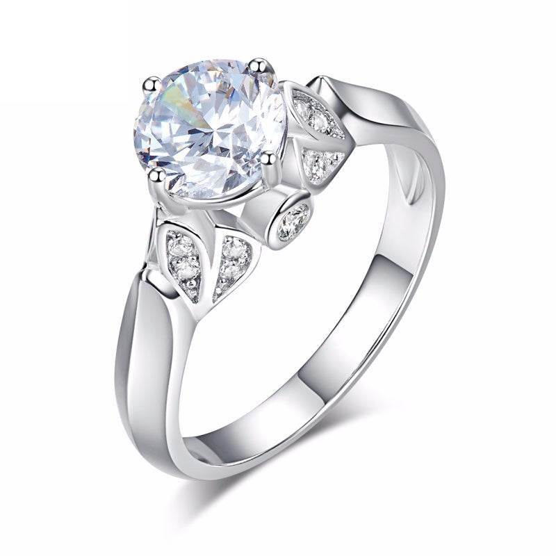 Simulated Diamond Engagement Ring